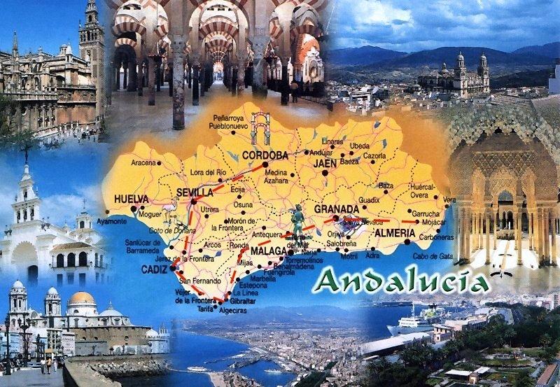 Andalousie Carte Didentite.L Andalousie Province Espagnole A Tres Forte Personnalite Cadix